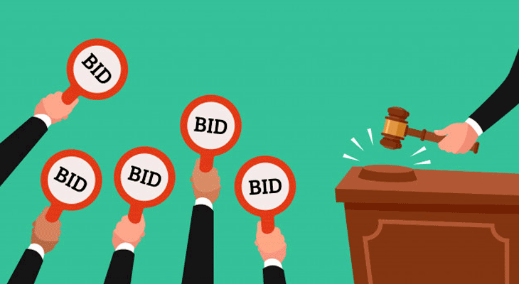 auctioning a house bids