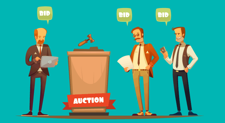 auctioning a house offers