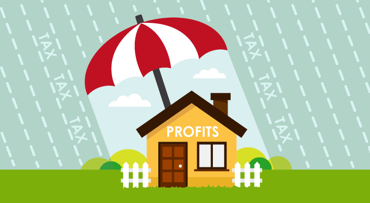 avoiding capital gains tax on second property umbrella